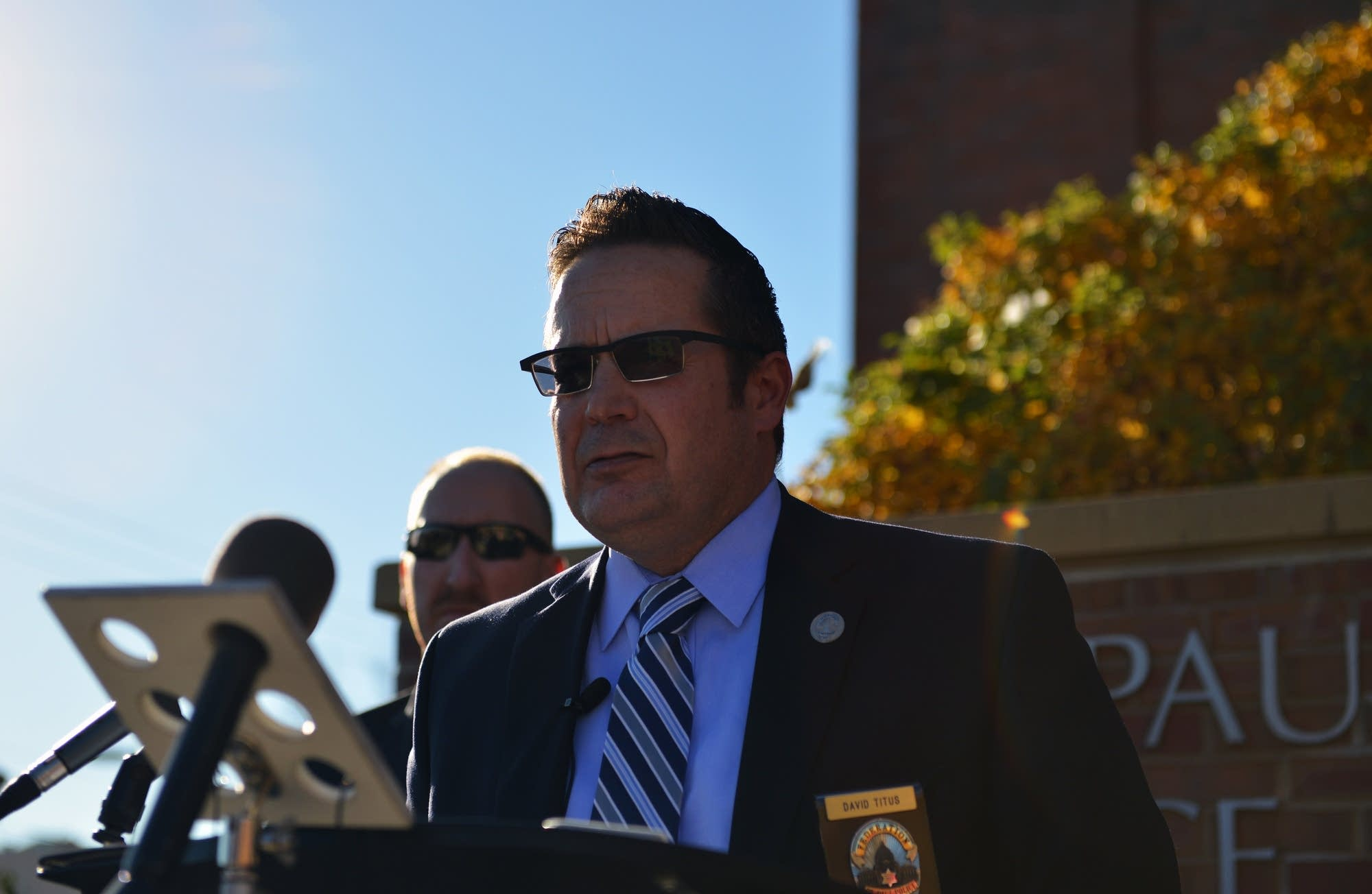 St.Paul Police Federation President David Titus.