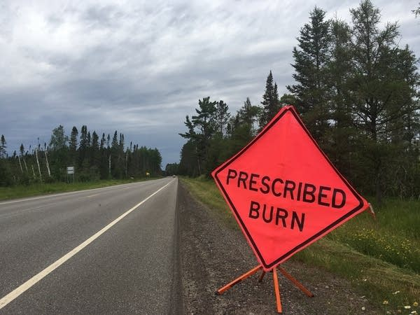 A road sign in northern Minnesota