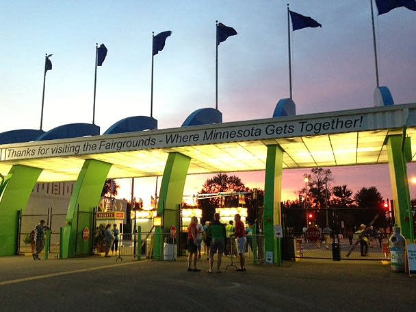 State Fair gates at dawn