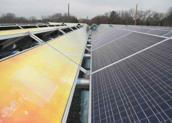 A section of the solar garden