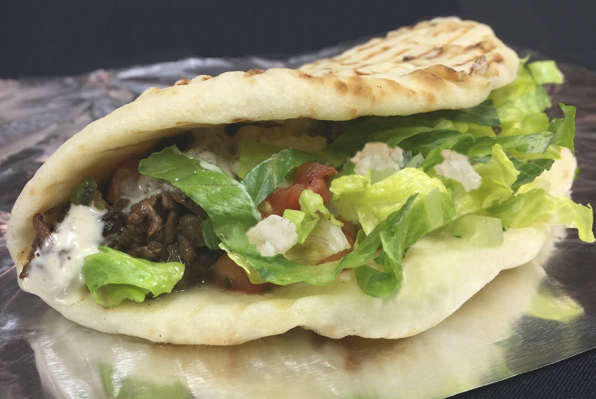 Deviation Stout Steak Taco Naan
