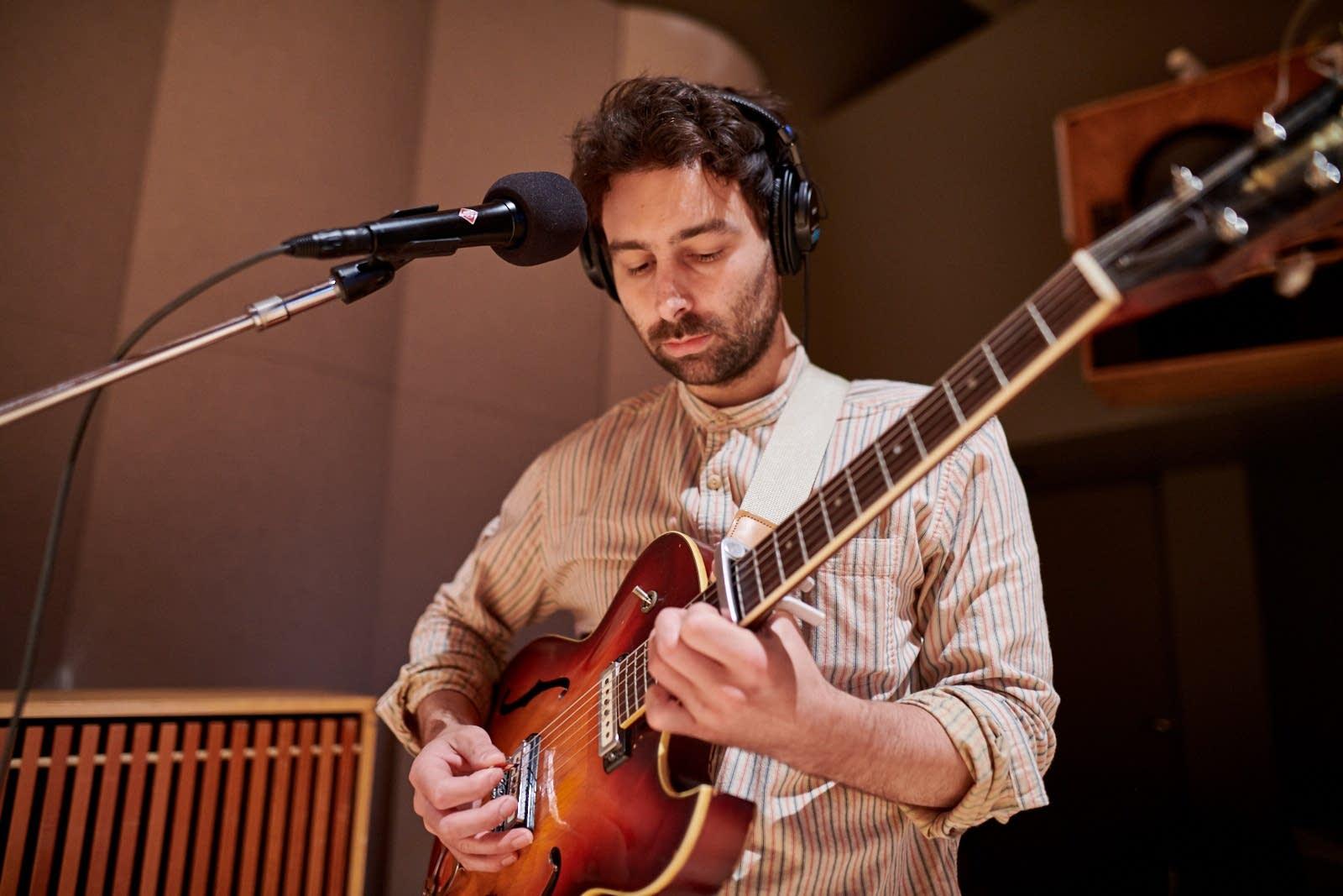 Okkervil River perform in The Current studio