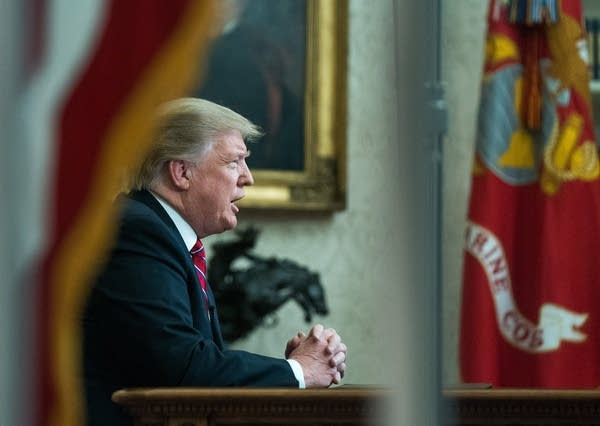 President Trump addresses the nation from the Oval Office.