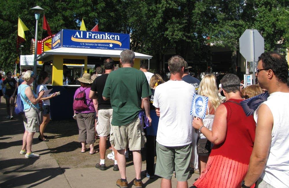 There was a long line  to meet Sen. Al Franken.