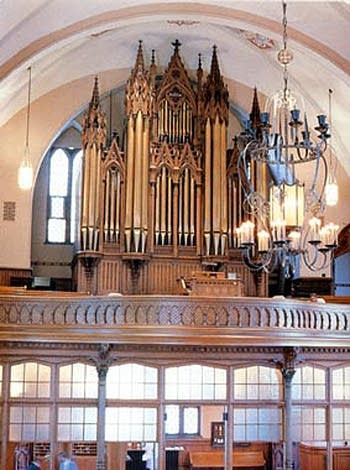 1879 Schuelke organ at Trinity Lutheran Church, Milwaukee, WI