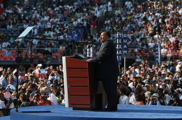 Martin Luther King III at speaks at Invesco Field