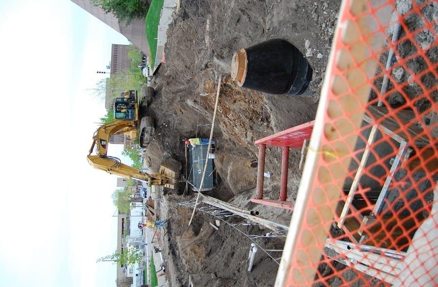 Construction crew at the U