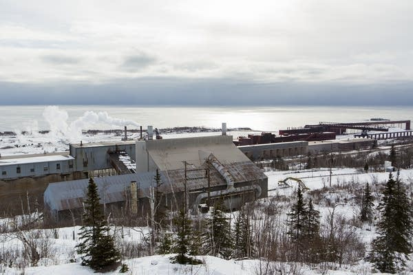 The Northshore Mining plant sits idle.