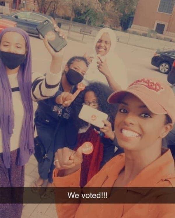 Voter selfies in St. Cloud