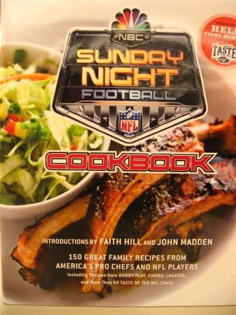 The cover the Taste of NFL cookbook