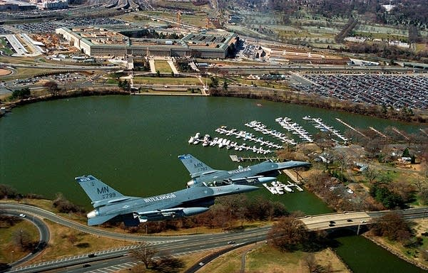 Air patrols over the Pentagon