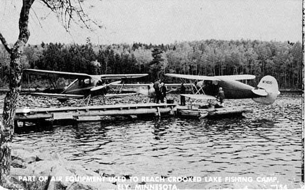 Flying in to Crooked Lake, 1950