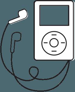 Illustration of iPod