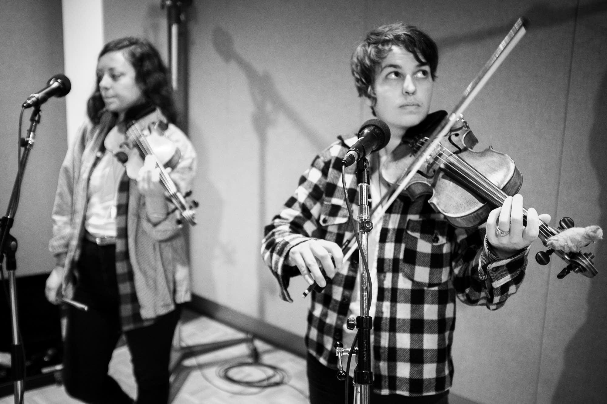 typhoon, violin players