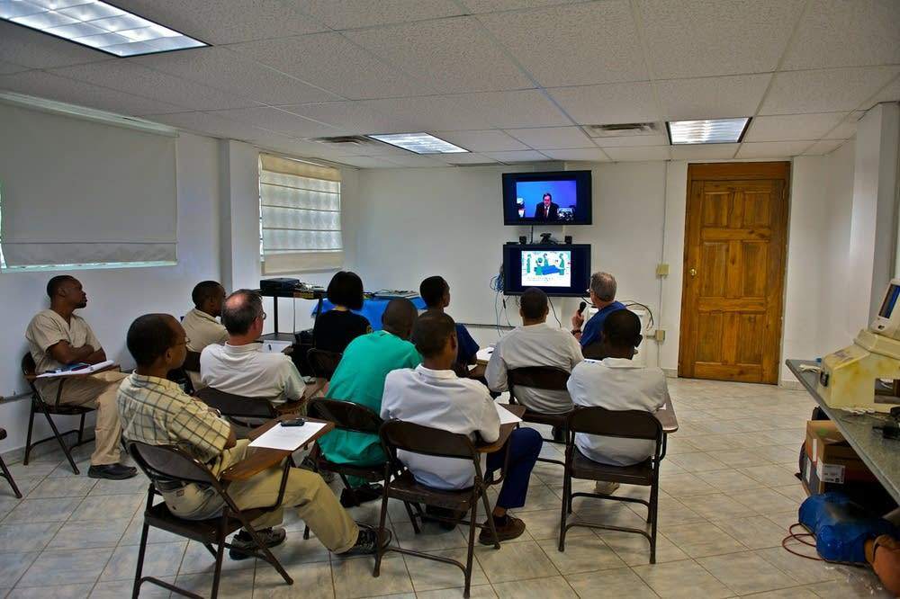 Video conference medical training