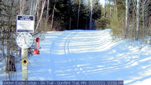 Ski trail along the Gunflint Trail.