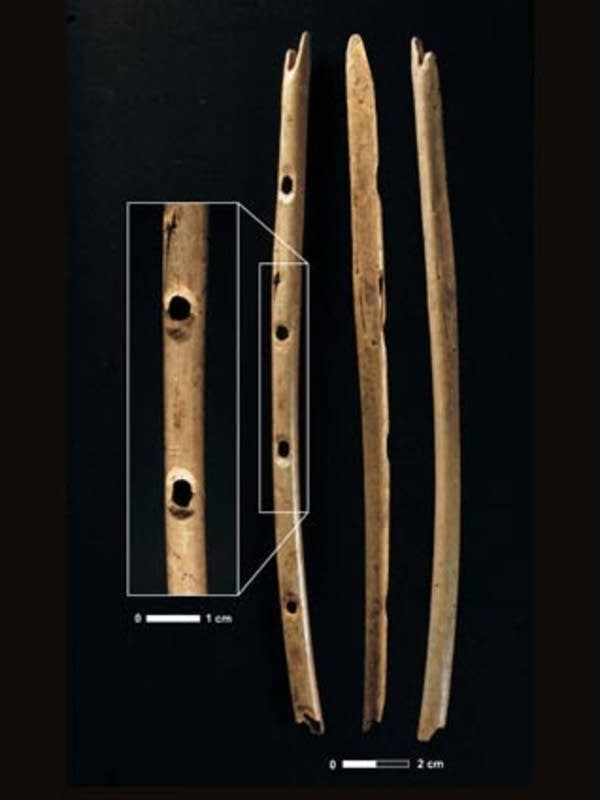 35,000 year-old bone flute