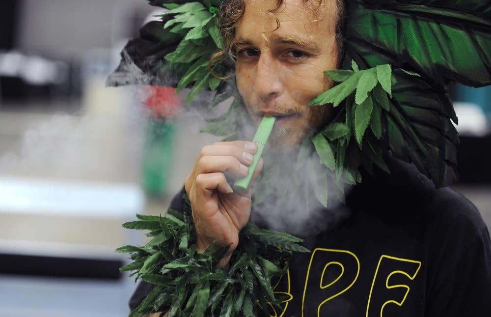 Inhaling marijuana