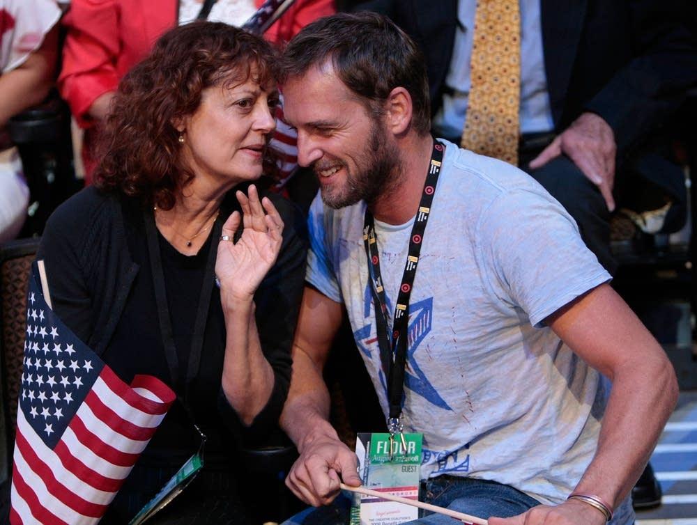 Actors Susan Sarandon and Josh Lucas at the DNC