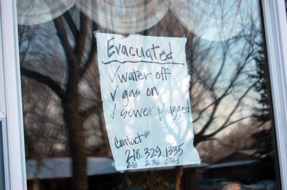 Some homeowners left notes on their homes