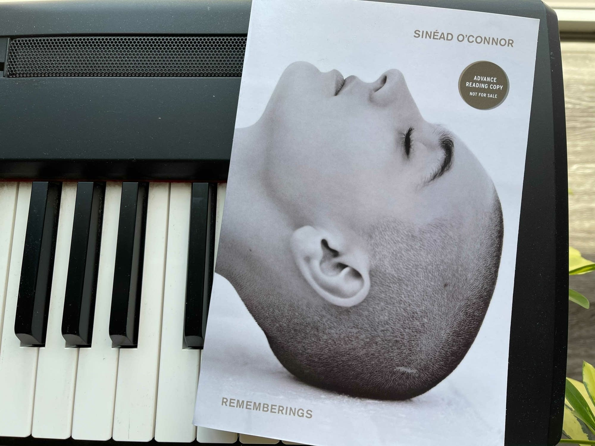 Book on keyboard: 'Rememberings.'