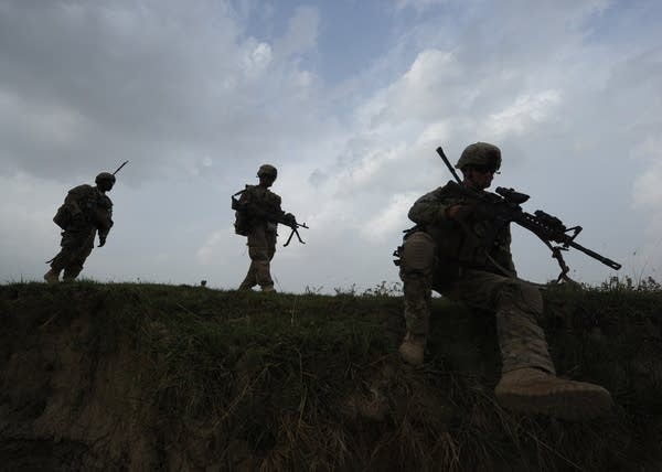 US soldiers from Viper Company (Bravo),
