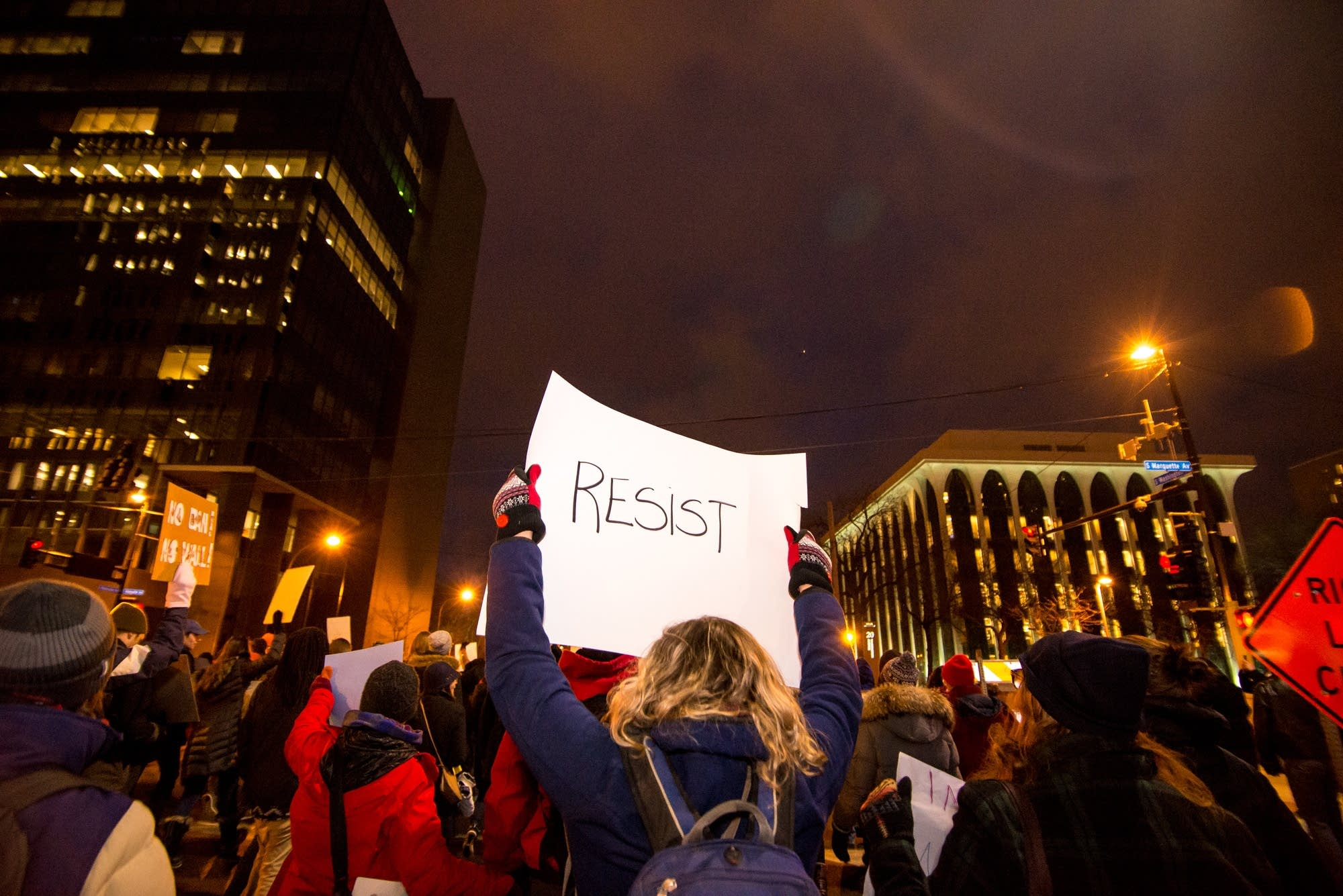 Some 5,000 people protested the president recently.