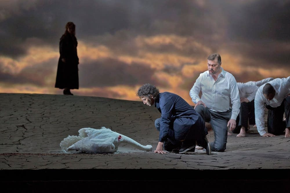 Kaufmann as Parsifal and Pape as Gurnemanz