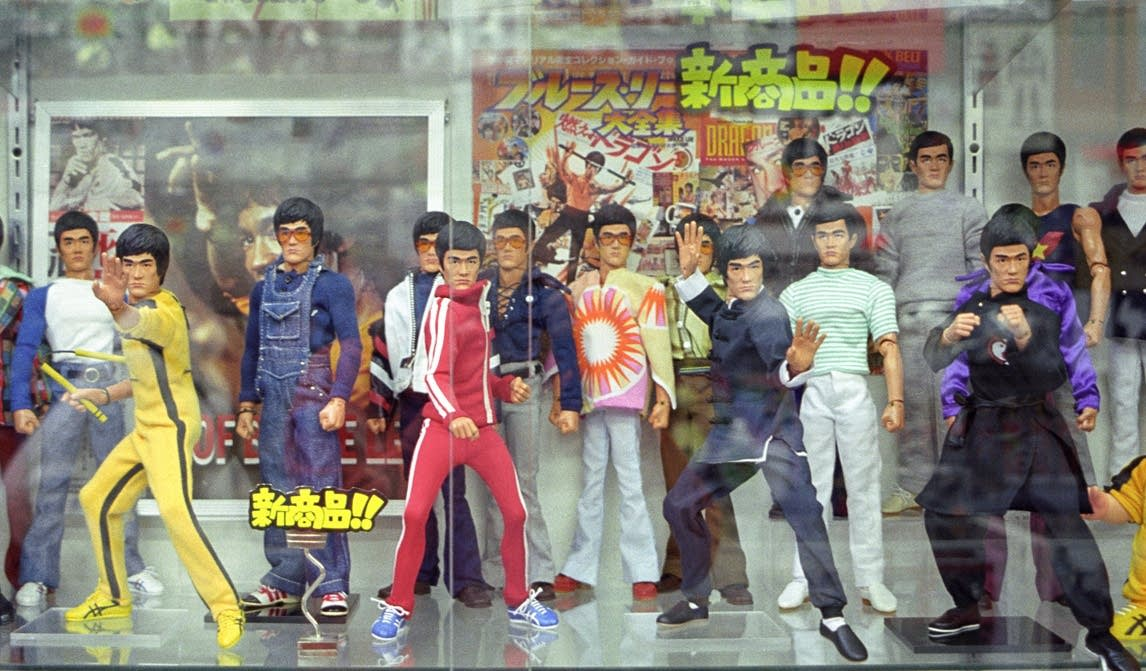 bruce lee action figures still life