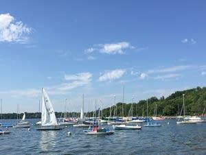 Sailboats on Lake Harriet in Minneapolis