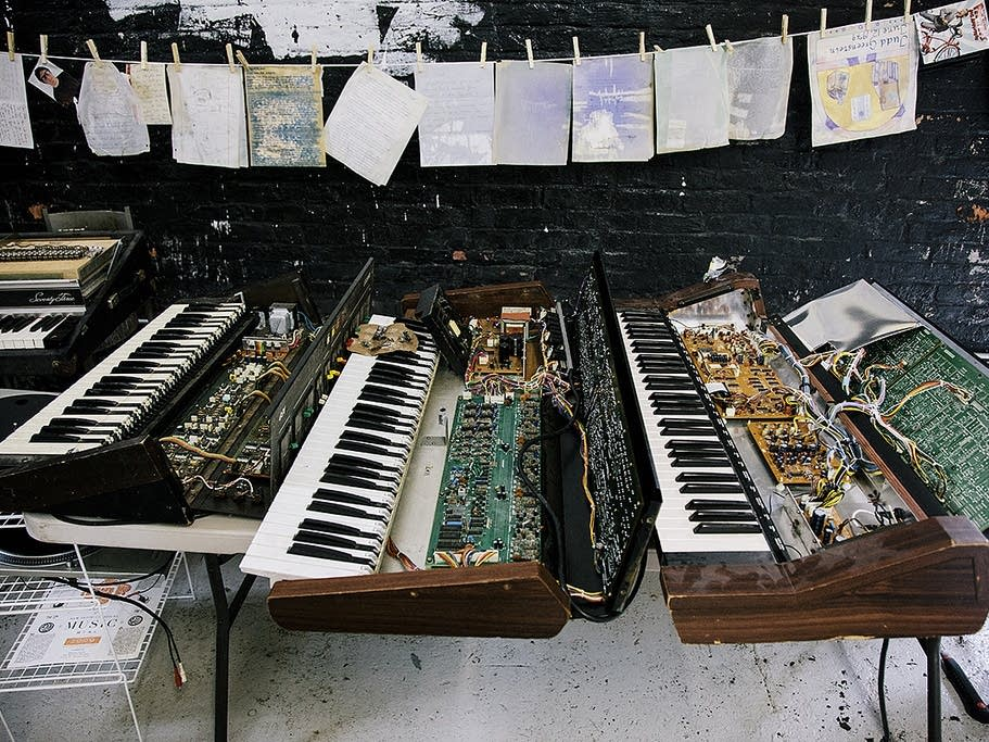 Some of the instruments damaged by Sandy