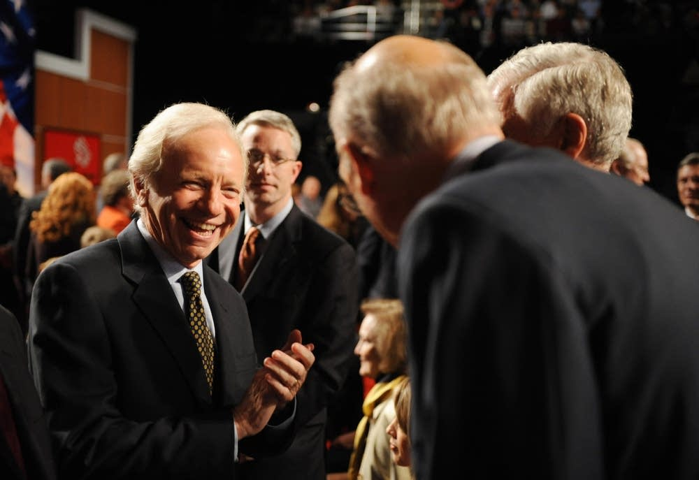 US Senator Joeseph Lieberman at the debate
