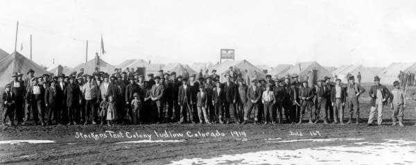 Miners on strike in Colorado
