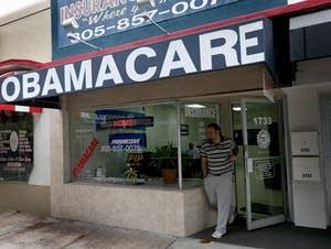 Health care insurance enrollment storefront