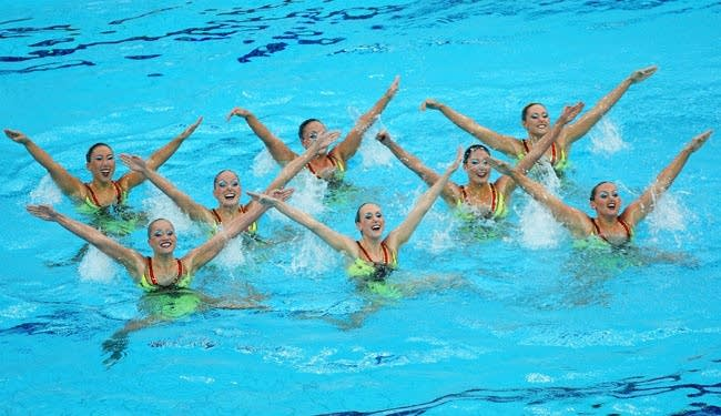 Olympics Day 14 - Synchronised Swimming