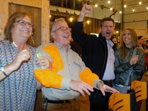 Kathy and Mike Halverson celebrate the Trump victory.