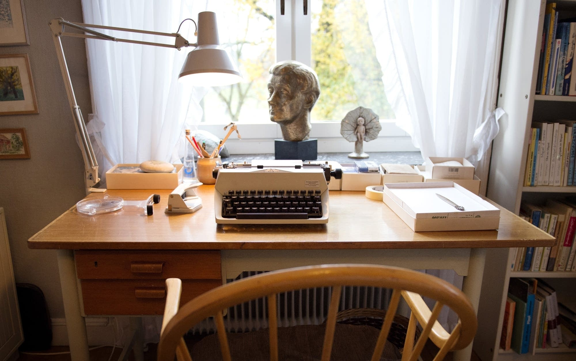Astrid Lindgren's desk and typewriter