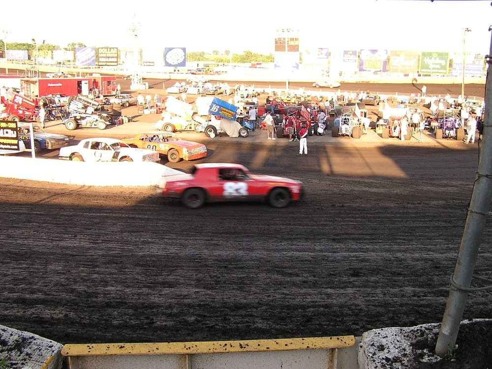 Stock cars race at local track