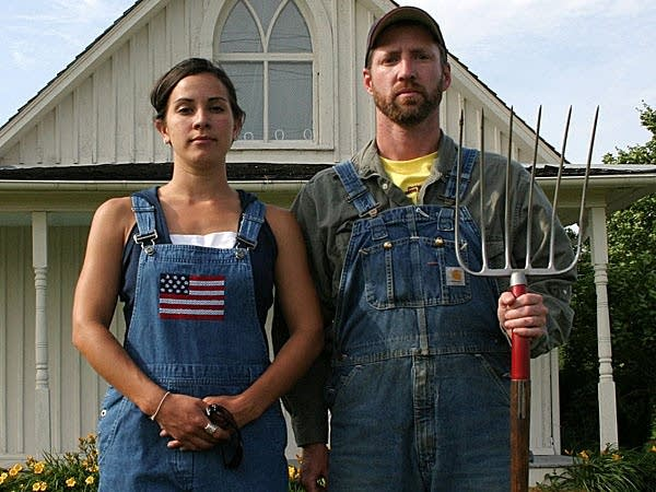 At the American Gothic House