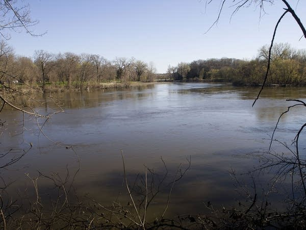 The Minnesota River connecting with the Blue Earth River