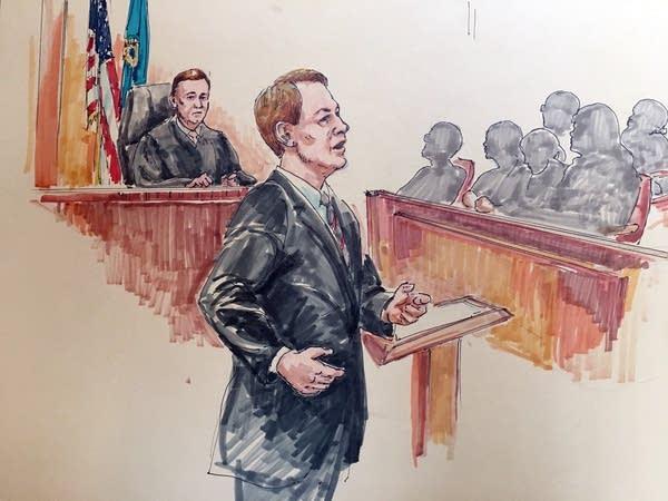 Prosecutor Jeffrey Paulsen made his closing arguments.