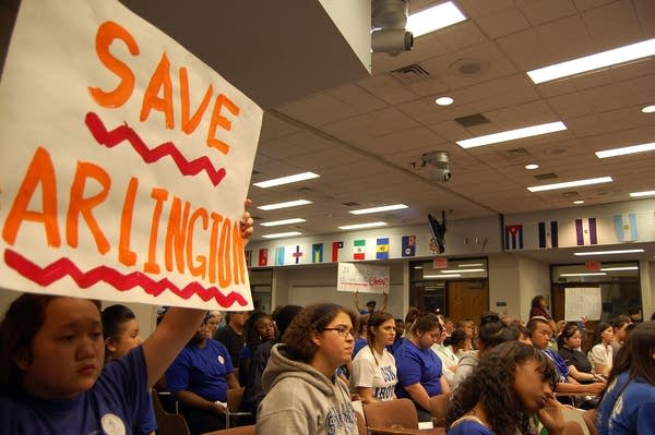 School plan protest