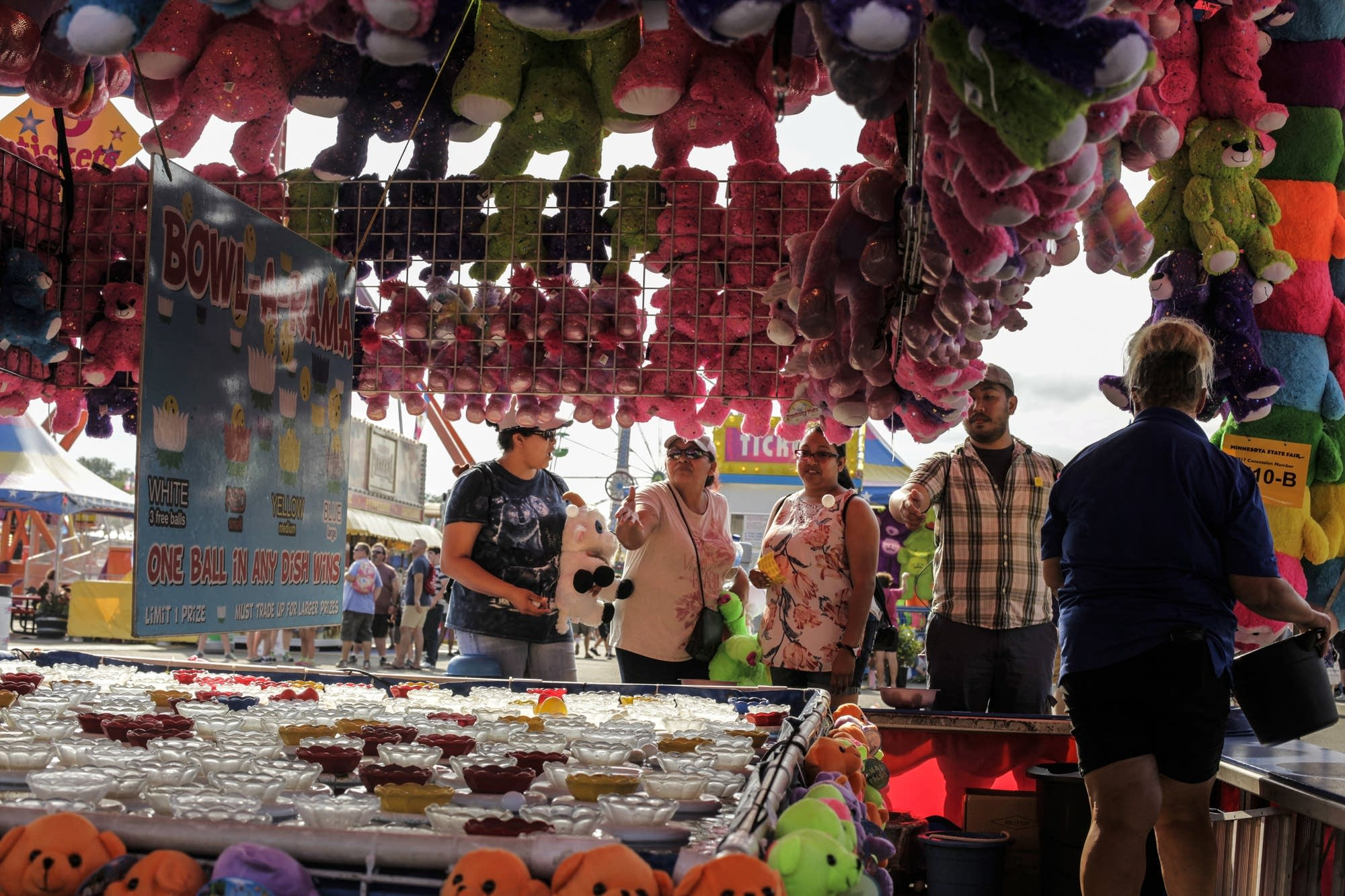 Carnival games become a competitive activity.