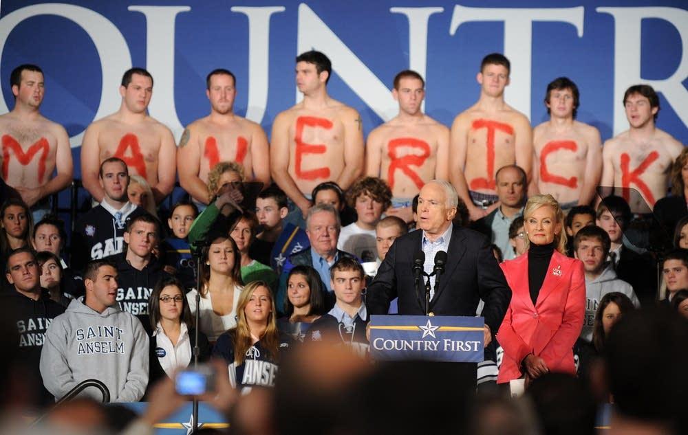 John McCain campaigns in Goffstown, N.H.