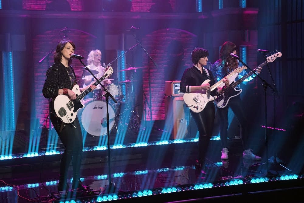 Ex Hex perform on 'Late Night with Seth Meyers' on NBC