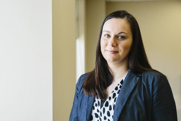 Attorney Ana Pottratz Acosta stands for a portrait.