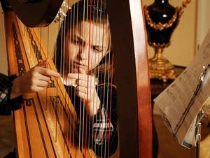 The harp is one of the largest instruments, with 47 strings.