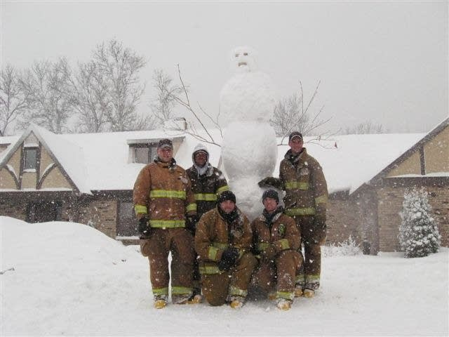 Firefighters in Moorhead took a break