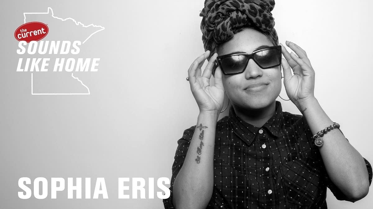 Digital flyer for Sophia Eris's Sounds Like Home performance.