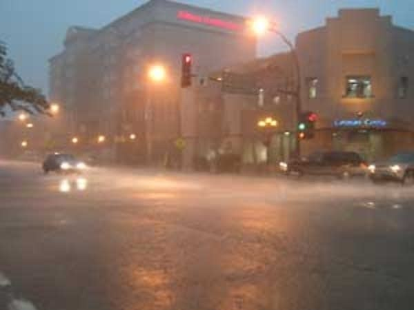Heavy rainfall in Rochester